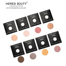 Brand HERES B2UTY DIY Fix Eyeshadow LongLasting Eyeshadow Daily Natural & Mineral Type Free Match BUY 8pcs GET 1 Box as GIFT(China)