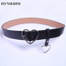 Buy New Fashion Designer Leather Punk Harajuku Heart Buckled Belt Exaggerated Metal Heart Ring belt Women for $3.42 in AliExpress store