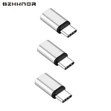 3 pcs Aluminium alloy Mini USB type C to Micro USB Converter Adapter Charger For Samsung Galaxy S8 S8+ A5 A7 A3 note7 Onleplus 5