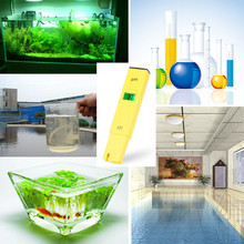 Pen Temperature Compensation ATC LCD Acid Aquarium Water Quality Salt Pool Tester Aqua Medidor de PH Meter Acidometer Analyzer