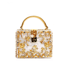 Sell Well 2017 New Fashion Acrylic Women Bag Diamonds Vintage Handbag Female Shoulder Bag Luxury Brand Designer Bag(China)