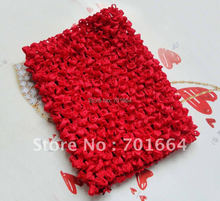 6PCS  4.5inches width hor red Elastic Crochet headbands for making waffle hats,BARGAIN for BULK