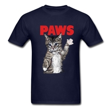 Men Cat Paws Tee Shirts Sites Screen Organic Cotton  {tshirt men Clothing Cheap