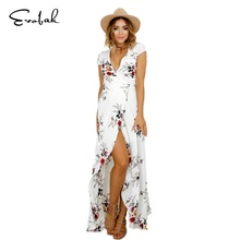 Buy Dress Women S-XXL Long Summer Sexy Dress Female Retro Floral Deep V Slim Vintage Dress Womens Clothing Casual Chiffon Sundress for $14.99 in AliExpress store