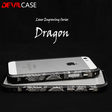 DEVILCASE For iPhone  6 6s 6plus 6splus Laser Engraving Dragon Bumper Carved Design Carp Stylish Metallic Protective Frame