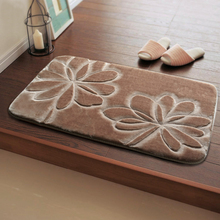 New 50x80cm Bath Mat In The Bathroom, 9 Colors Anti Slip Bathroom Mats And Rugs, Flower Pattern Baby Bath Pad Mats Tapete