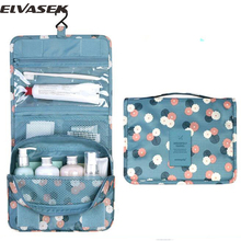 Elvasek hot sale women men's cosmetic cases ladies makeup bags travel bag wash pouch new print storage waterproof bags LS8904