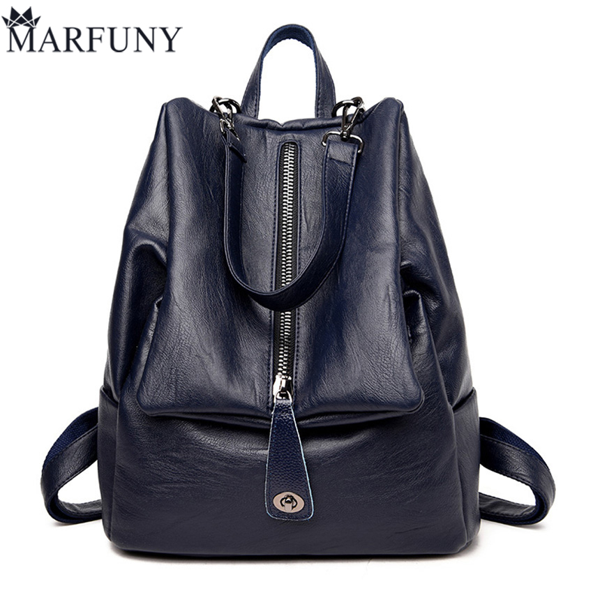 High Quality Pu Leather Backpack Women Travel Backpack 2017 European And American Style Backpacks Fashion Solid Women Bag Sac<br>