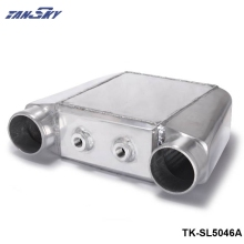 "TANSKY - Turbo Water to Air Intercooler 250 X 220 X 115mm Inlet/Outlet: 3.5"" Front Mount Aluminum Turbo Intercooler TK-SL5046A"