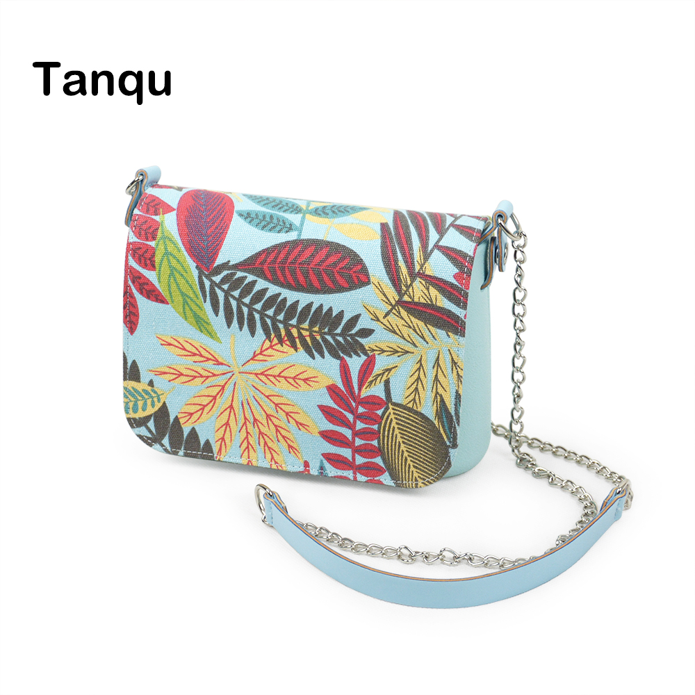TANQU New small EVA pocket women shoulder bag plus Floral Cartoon Flap long shoulder chain with clip closure messenger bag<br>