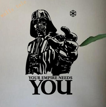Star Wars Vinyl Wall Decals ,  Home Decoration Star Wars Wall Stickers - Your Empire Needs You wall Art Vinyl Free Shipping
