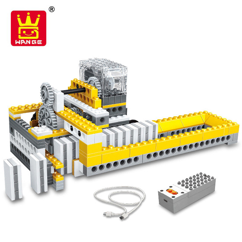 Power Machinery Dominoes Machine DIY Assembly Building Blocks 4 In 1 Model Educational Toys For Children Compatible With Lepin<br>