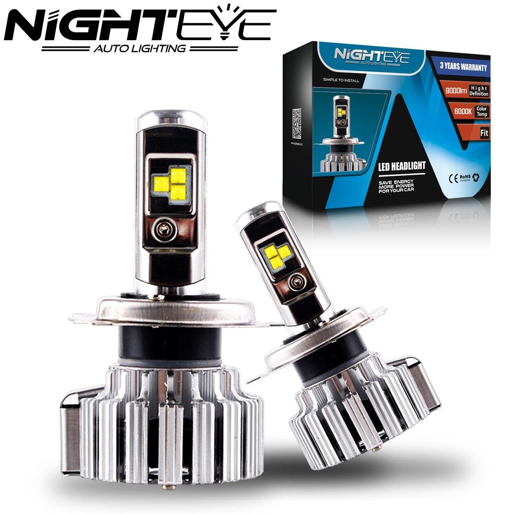 Nighteye 80W 9000LM H4 HB2 9003 with Cree LED Headlight Kit Fog Lamps Light Bulbs 6000K White Car Led Lights Free Shipping<br><br>Aliexpress