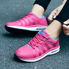 Newest 2017 Female Running Shoes Trainer Walking Outdoor Leather Breathable Sport Shoes Air Cushion for Women Jogging Sneakers