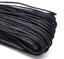 DoreenBeads Wholesale Black Waxed Cotton Necklace Cord 2mm,sold per pack of 80M(China)