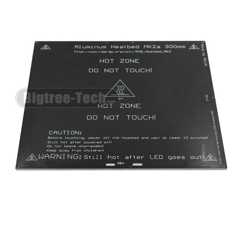 2017 MK2A 300*300*3.0mm RepRap RAMPS 1.4 PCB Aluminum Heatbed Hot Plate For Mendel For 3D Printer MK2B<br>
