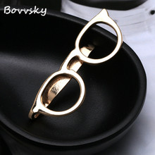 Bovvsky Fashion men Male French hollow sunglasses Shirt bag Tie Clips Golden Silver Vintage Mens tie clips For Shirt