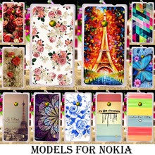 Soft Silicone TPU Plastic Casess For Nokia Lumia 520 N520 525 526 435 532 535 540 550 640 beautiful flower pattern skin hood bag