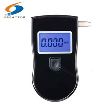 Hot selling Professional Police Breathalyzer Digital Breath Alcohol Tester Free shipping+10pcs mouthpieces(China)