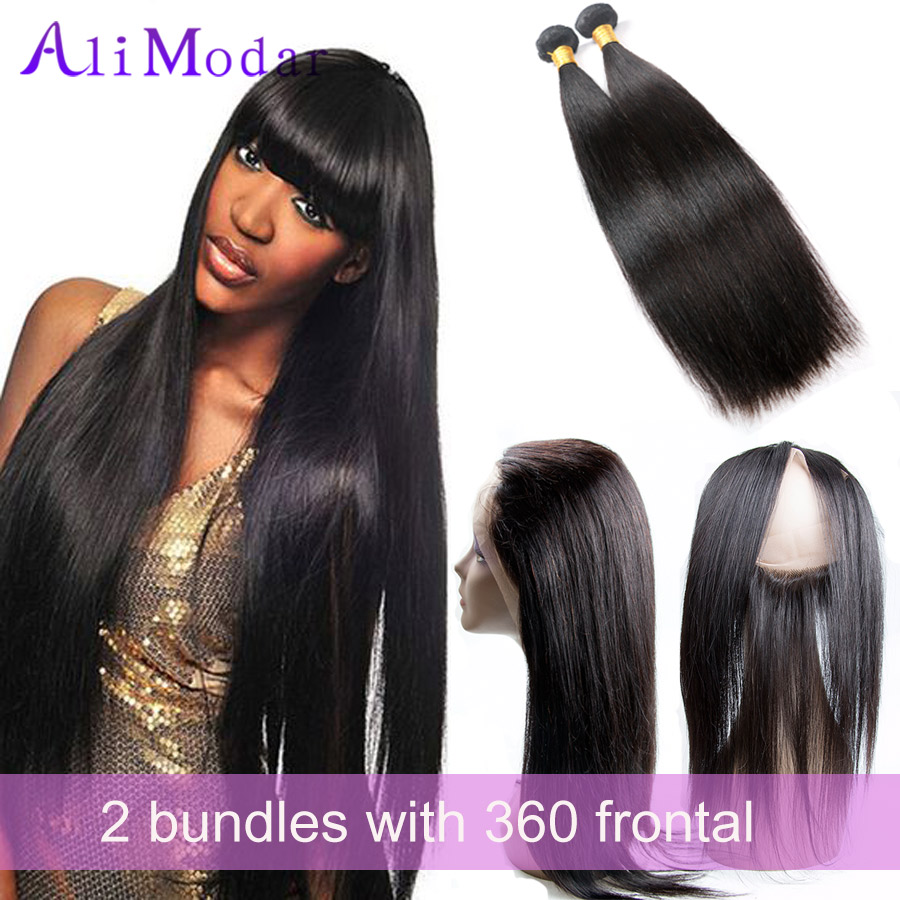 360 Lace Frontal With Bundle Brazilian Straight 360 Lace Virgin Hair With Bundle 360 Lace Frontal Closure With Bundles HumanHair<br><br>Aliexpress