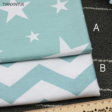 160*50cm 2pcs/lot Twill Blue star and Spray cloth100% cotton Fabric DIY patchwork sewing baby cushion pillow quilting fabrics