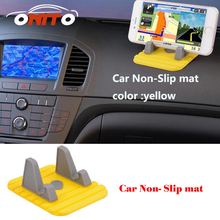 TOP Anti skid padding navigation bracket car phone holder stand instrument table GPS Car Non Slip mat Silicon Anti slip mats