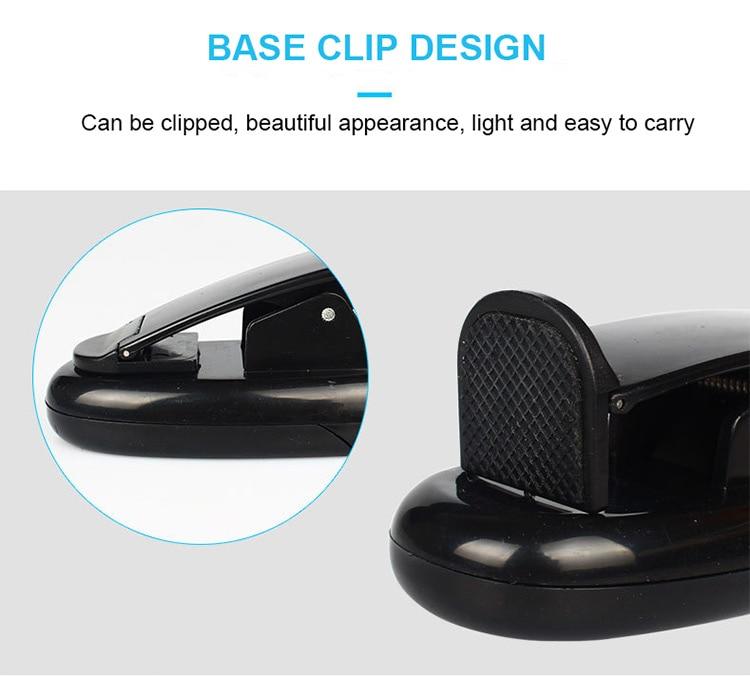 DE.SOUL Third Gear Adjustment Light Source LED Book Light Clip 360 Degree Flexible Charging Book Lamp Travel Beside Reading Lamp (8)