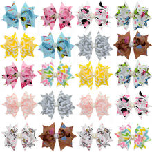 20pcs 3 Inch Baby Boutique Hair Clip Girls Toddler Character Ribbon Hair Bow WITH Clip Fashion Children Hair Accessories(China)