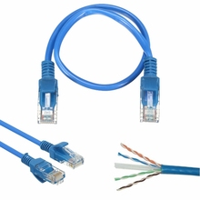 20cm RJ45 CAT 5 Ethernet Cable Male to Male Network LAN Internet Cable Patch Wire Cord Lead Crystal Head Connector for PC Laptop