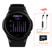 2017 Bluetooth MP3 Smart Watch heart rate SmartWatch Phone support TF Card Fitness wristwatch For apple x samsung gear S2 huawei(China)