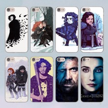 Cool Art Game Of Thrones jon snow design transparent clear hard case cover for Apple iPhone 7 7Plus 6S 6 Plus 5 5s SE 5C