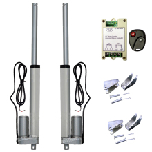 "2 Linear Actuators 200mm 8"" Stroke 1500N 330lbs With Wireless Remote Controller Bracket Set-12V DC Motor for Car Boat Door Auto"