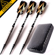 New CUESOUL Soft Tip Darts  3PCS/set 18g 15cm 90% Tungsten Darts Electronic Dart Needle With Leather Case