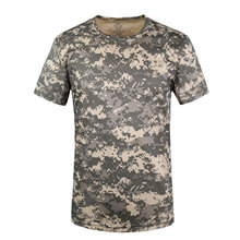 Men's Tops Tees 2016 Summer Military New O-neck Short Sleeve T Shirt Men Outdoor Trend Fitness Training Army Tactical T-shirt(China)