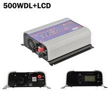 500W LCD wind grid tie inverter for 10.5-30V/22-60V DC wind turbine generators,mppt pure since wave with dump load resistor