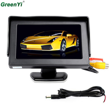 GreenYi T430 Wholesale 10PCS 1 Lot Digital Car Monitor 4.3 LED Backlight TFT Mirror LCD Car Monitor Connect Rear View Camera(China)