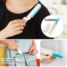 eTya 1PC Travel Portable Washable Lint Sticky Roller Hair Dust Remover Clothes Foldaway(China)