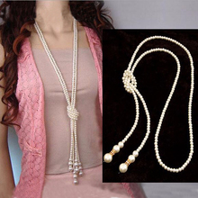 Fashion Simulated Pearl Necklaces Pendants  for Women Long Statement Necklaces elegant gift party banquet classic fine jewelry