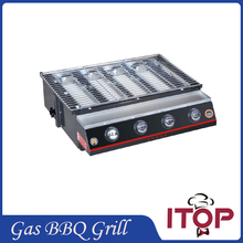 4 Burners Gas BBQ Grill Barbecue Fast Delivery Camping Picnic Outdoor Smokeless Adjustable Height