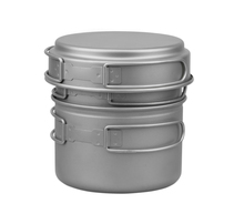 2 Person Titanium Pot Camping Cookware Set Picnic Pot  FMC-DP2