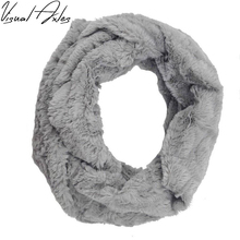 2017 Fashion Real Rex Rabbit Fur Scarf Women Winter Fur Shawl Solid Color Infinity Pom Poms Fur Scarves