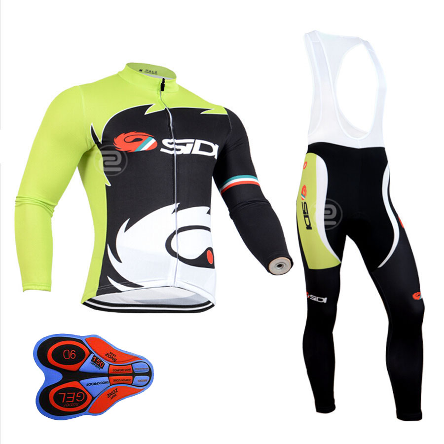 Pro Cycling Jerseys Breathable Bike Jerseys GEL PAD Bib Pants Sets