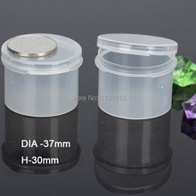 10pcs/lot small round plastic box transparent PP plastic container storage box for Screws jewelry coins earphone electric wires(China)
