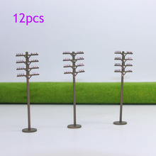 Evemodel 12pcs Model Train Railway Round telephone poles model train 1:87 HO Scale  wire NEW GY18087 railway modeling