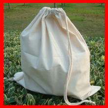 (100pcs/lot) size 20x30cm Wholesale 100% natural plain cotton drawstring bag