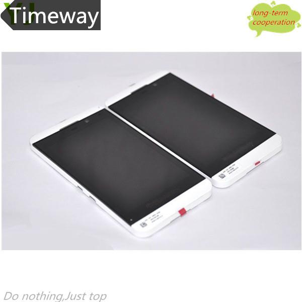 Timeway HK   White LCD Assembly Touch Screen+Middle Plate+Power Button+Earphone Jack Flex  for BlackBerry Z10 3G Version<br><br>Aliexpress