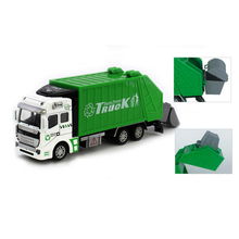 New Large garbage truck Toy 1:48 Pull Back Garbage Truck Alloy Metal & Plastic Toy Truck for Boys Toys Gift(China)