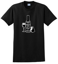 Shirts Trend Clothing Crew Neck Age Is Important Only In Wine And Cheese Short Sleeve Office Womens Tee