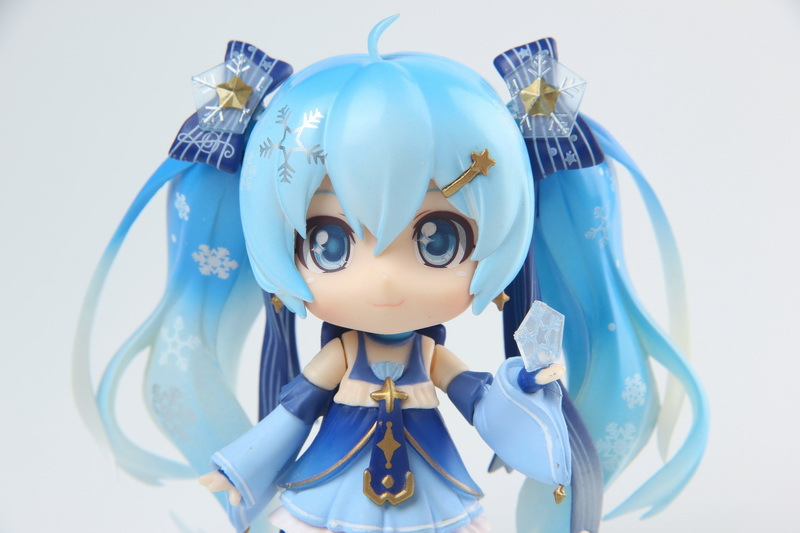 Hatsune Miku Mini Action Figure 110 scale painted figure Snow Miku Twinkle Snow Ver. PVC figure Toy Brinquedos Anime (12)