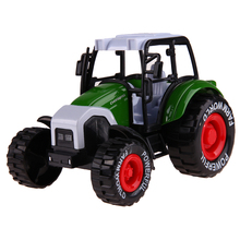 1:32 Alloy Glide Farmer Engineering Van Car Educational Toys Tractor Scale Models Children's Toy Music Function